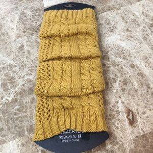 Leg warmers (mustard color)